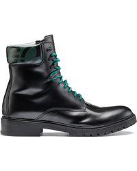 HUGO - Bits & Bytes Capsule Brush-off Leather Boots With Logo - Lyst