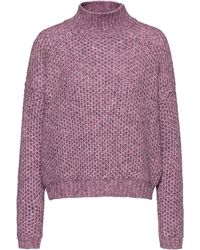 HUGO Relaxed-fit Jumper With Honeycomb-knit Structure - Pink