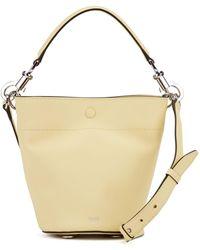 BOSS Italian-leather Bucket Bag With Snap-hook Hardware - Yellow