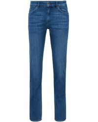 BOSS by HUGO BOSS Slim-fit Jeans In Blue Cashmere-touch Italian Denim