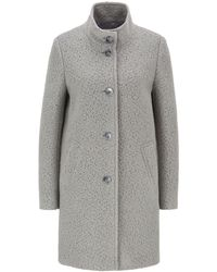 BOSS - Regular-fit Coat In Wool-blend Bouclé - Lyst