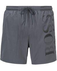 BOSS by Hugo Boss - Logo-print Swim Shorts In Technical Fabric - Lyst