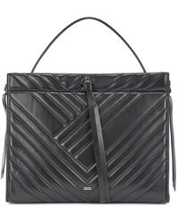 BOSS by Hugo Boss - Small Tote Bag In Quilted Leather With Lace Detailing - Lyst