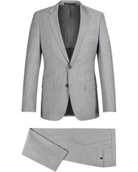 8aea780f8 BOSS Italian Cotton Double-breasted Suit, Slim Fit | Nami/ben in White for  Men - Lyst