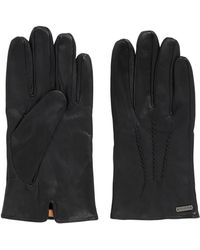 BOSS Orange - Vintage-style Gloves In Waxed Leather - Lyst