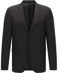 BOSS - Extra-slim-fit Jacket In New Wool With Amf Stitching: 'ryan_cyl' - Lyst