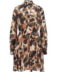BOSS by HUGO BOSS Jurk Met Camouflageprint En Uitneembare Onderjurk - Bruin