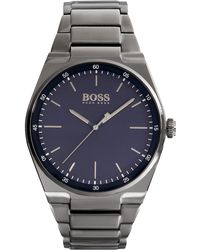 BOSS - Blue Dial Watch With Grey Bracelet | Magnitude - Lyst
