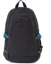 BOSS by Hugo Boss Structured-nylon Backpack With Logo Straps - Black
