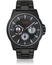 HUGO Black-plated Multi-eye Watch With Distinctive Sub-dials