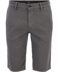 BOSS - Slim-fit Chino Shorts In Structured Stretch Cotton - Lyst