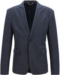 BOSS - Twill Stretch Cotton Linen Sport Coat, Slim Fit | Bedge Bs W - Lyst