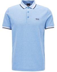 BOSS Green - Regular-fit Piqué Polo Shirt: 'paddy' - Lyst