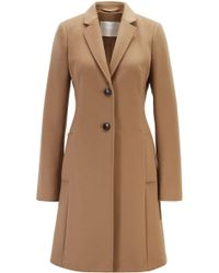 BOSS Regular-fit Wool And Cashmere Coat - Brown