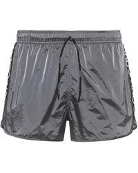 HUGO Bañador tipo shorts de secado rápido con cinta y logo invertido - Metálico