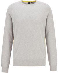 BOSS by HUGO BOSS Jersey slim fit en mouliné de algodón ligero - Metálico