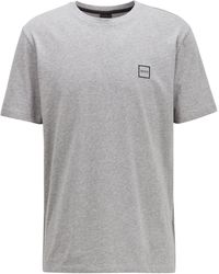 BOSS by Hugo Boss - Crew-neck T-shirt In Single-jersey Cotton - Lyst