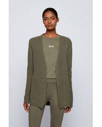 BOSS by HUGO BOSS Relaxed-fit Cardigan In An Alpaca Blend - Green