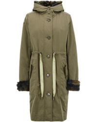 BOSS - Hooded Parka With Faux-fur Trims And Detachable Lining - Lyst