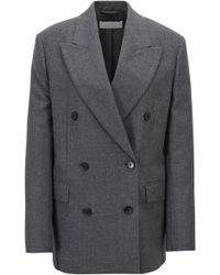 BOSS - Oversized-fit Double-breasted Blazer In Virgin-wool Twill - Lyst