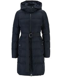 BOSS Hooded Down Jacket With Water-repellent Outer - Blue