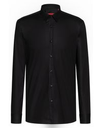HUGO - Extra Slim-fit Shirt In Stretch Cotton - Lyst