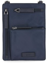 BOSS by HUGO BOSS Logo Neck Pouch In Recycled Italian Fabric - Blue