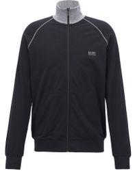 BOSS - Regular-fit Loungewear Jacket In Stretch Cotton - Lyst