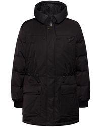 HUGO Water-repellent Down Coat With New-season Branding - Black
