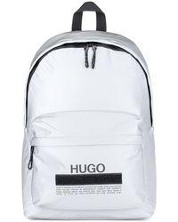HUGO Rucksack aus weichem Nylon mit Manifesto-Logo - Mettallic