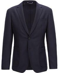 BOSS - Slim-fit Blazer In A Washable Virgin-wool Blend - Lyst