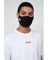 HUGO Mondkapje Van Stretchkatoen Met Reflecterend Logo - Zwart