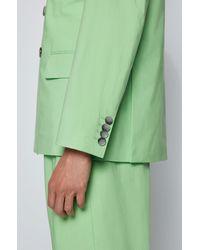 BOSS by HUGO BOSS Costume Regular Fit en coton stretch - Vert