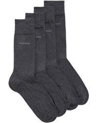BOSS by HUGO BOSS Set Van Twee Paar Sokken Van Een Katoenmix Met Normale Lengte - Grijs