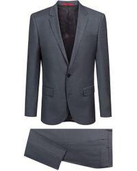 HUGO - Slim-fit Suit In Micro-patterned Italian Virgin Wool - Lyst