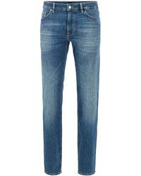 BOSS Regular-fit Jeans In Super-soft Stretch Denim - Blue