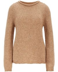 BOSS - Alpaca-blend Sweater With Rolled Neckline - Lyst
