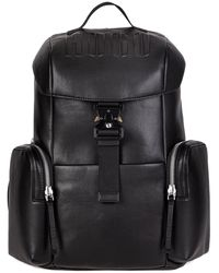 HUGO Faux-leather Backpack With Embossed Logo - Black