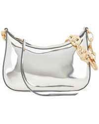 BOSS by Hugo Boss Glossy Hobo Bag With Gold Toned Chain - Metallic