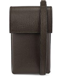 BOSS by Hugo Boss Neck Pouch In Italian Leather With Detachable Strap - Multicolor