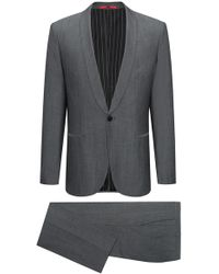 HUGO - Wool Cotton Suit, Extra Slim Fit | Arti/hesten - Lyst