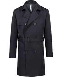HUGO - Double-breasted Trench Coat In Water-repellent Technical Fabric - Lyst