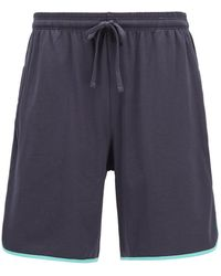 BOSS by Hugo Boss Loungewear Shorts In Stretch Cotton With Contrast Piping - Blue