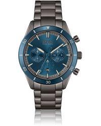 BOSS by HUGO BOSS Blue-bezel Multi-eye Watch With Link Bracelet