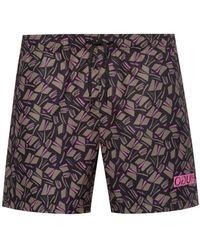 HUGO Quick-drying Swim Shorts With Tulip Print - Multicolour
