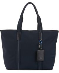 BOSS - Structured Tote Bag With Italian Calf-leather Trims - Lyst