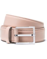 HUGO - Italian Leather Belt With Polished Pin Buckle - Lyst
