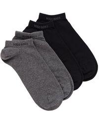 BOSS by HUGO BOSS Paquete de dos pares de calcetines tobilleros en mezcla de algodón - Gris
