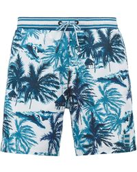 15d74d40ae Lyst - Boss Quick-drying Swim Shorts With All-over Pattern: 'piranha ...