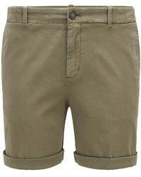BOSS by HUGO BOSS Shorts chinos regular fit en algodón elástico satinado - Verde